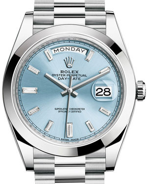 228206 Ice blue set with diamonds Rolex Day-Date 40