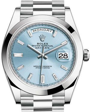 Rolex Day-Date 40 228206 Ice blue set with diamonds