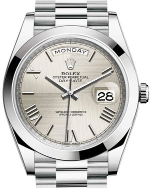 Rolex Day-Date 40 228206 Silver quadrant motif