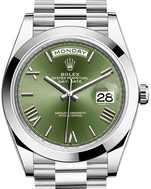 228206 Olive green Rolex Day-Date 40