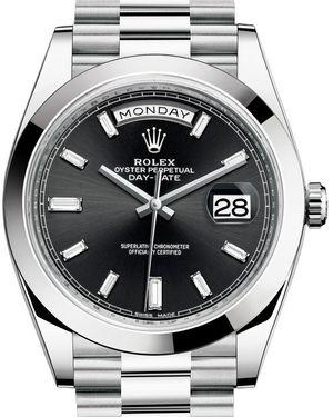 Rolex Day-Date 40 228206 Black set with diamonds