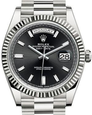 228239 Black set with diamonds Rolex Day-Date 40