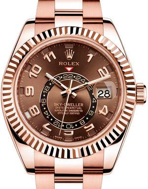 326935 Chocolate Rolex Sky-Dweller