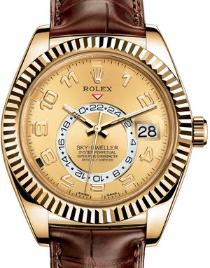 326138 Champagne Arabic Rolex Sky-Dweller