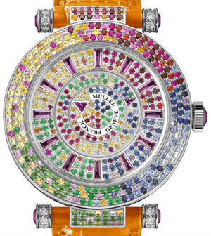 42 DM QTR SAI D 3R CD orange Franck Muller Double Mystery