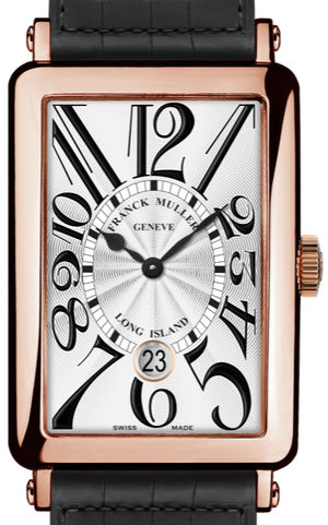 1200 SC DT Rose Gold Black Leather Strap Franck Muller Long Island