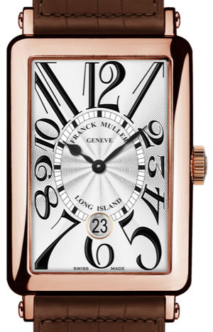 1200 SC DT Rose Gold Brown Leather Strap Franck Muller Long Island