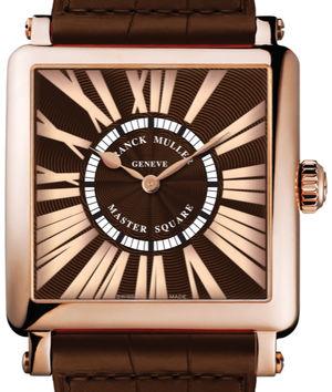 6000 H QZ REL R Rose Gold Brown Leather Strap  Franck Muller Master Square