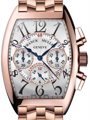 Franck Muller Cintree Curvex Chronograph 8880 CC AT Rose Gold Bracelet