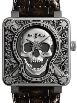 Bell & Ross BR 01 Skull BR0192-SKULL-BURN