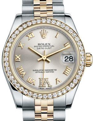 Rolex Datejust 31 178383 Silver set with diamonds