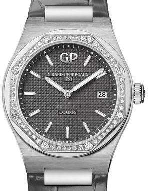 80189-D11A-231-CB6A Leather Strap Girard Perregaux Laureato