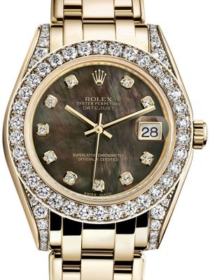 Rolex Pearlmaster 81158 Black mother-of-pearl set with diamonds
