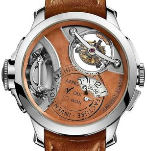 Art Piece 2 White Gold Brown Dial Greubel Forsey Double Tourbillon 30°