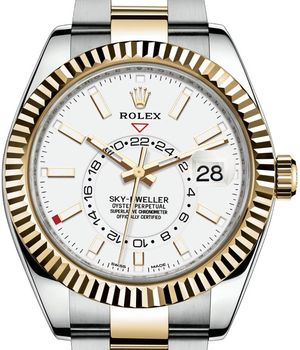 326933 Champagne Rolex Sky-Dweller