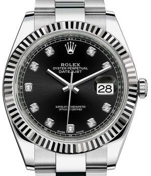 126334 Black set with diamonds Rolex Datejust 41