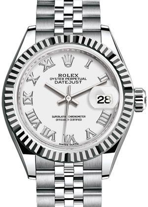 279174 White Rolex Lady-Datejust 28