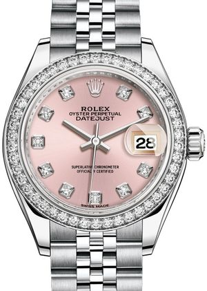 Rolex Lady-Datejust 28 279384RBR Pink set with diamonds