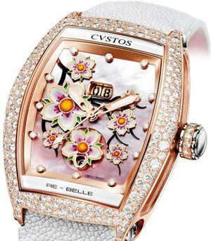 re-belle sakura red gold diamond snow setting Cvstos Re-Belle