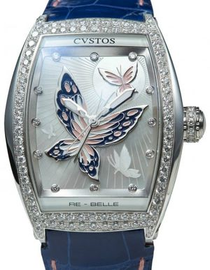 re-belle papillon steel diamond rose blue butterfl Cvstos Re-Belle