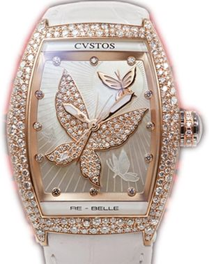 re-belle papillon red gold diamond snow setting Cvstos Re-Belle