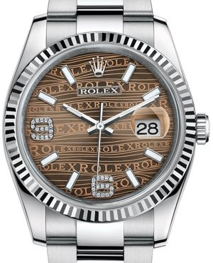 Rolex Datejust 36 116234 Bronze waves diamond Oyster Bracelet