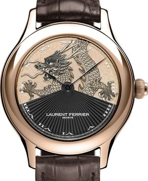 red gold case miniature painting dial Laurent Ferrier Galet Secret