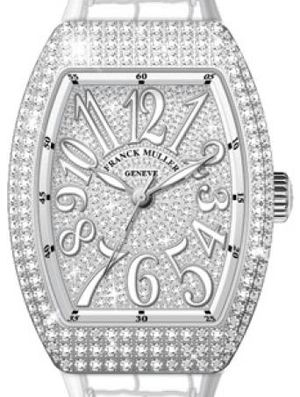 Franck Muller Vanguard Lady Automatic V 35 SC AT FO D CD OG.NR DIAM.BLC AC