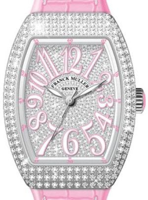 Franck Muller Vanguard Lady Automatic V 35 SC AT FO D CD OG.RS DIAM.BLC RS