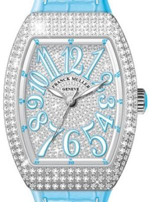 Franck Muller Vanguard Lady Automatic V 35 SC AT FO D CD OG.BL DIAM.BLC BL