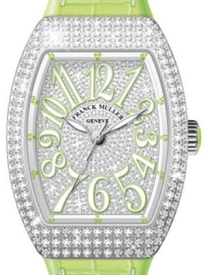 Franck Muller Vanguard Lady Automatic V 35 SC AT FO D CD OG.VE DIAM.BLC VE