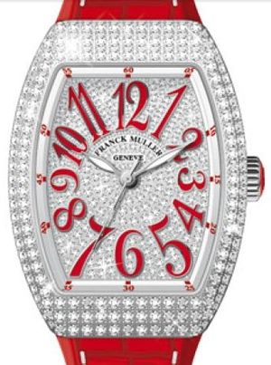 Franck Muller Vanguard Lady Automatic V 35 SC AT FO D CD OG.RG DIAM.BLC RG