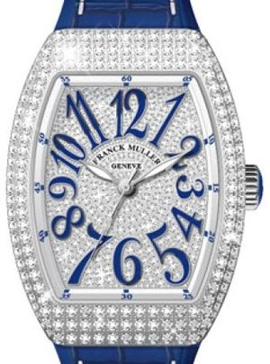 Franck Muller Vanguard Lady Automatic V 35 SC AT FO D CD OG.BU DIAM.BLC BU