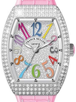 Franck Muller Vanguard Lady Automatic V 35 SC AT FO COL DRM D CD OG.RS DIAM.COL DRM AC