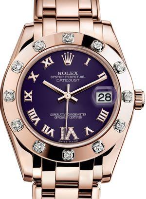 81315 Purple set with diamonds Rolex Pearlmaster