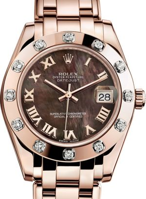 81315 Black mother-of-pearl Rolex Pearlmaster