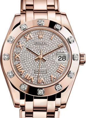 81315 Diamond-paved Rolex Pearlmaster