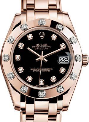 81315 Black set with diamonds Rolex Pearlmaster