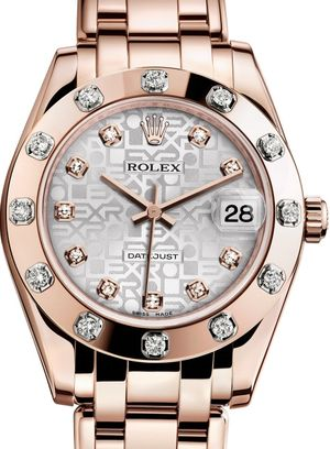 81315 Silver Jubilee design set with diamonds Rolex Pearlmaster