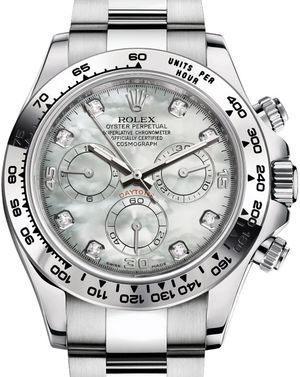 Rolex Cosmograph Daytona 116509 White mother-of-pearl set with diamonds