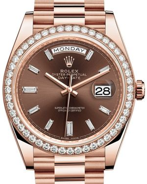 Rolex Day-Date 40 228345RBR Chocolate set with diamonds