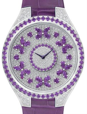 Disco Butterfly Motif Diamond on Violet Sapphire Graff Butterfly