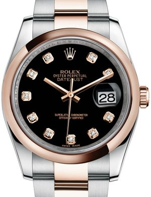 Rolex Datejust 36 116201 Black set with diamonds
