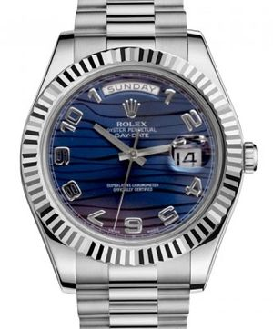Rolex Day-Date II Archive 218239 Blue Wave Dial