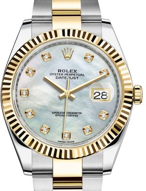 Rolex Datejust 41 126333 White mother-of-pearl Oyster Bracelet