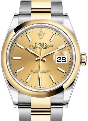 126203 Champagne-colour Rolex Datejust 36