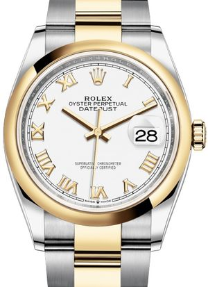126203 White Roman numeral Rolex Datejust 36