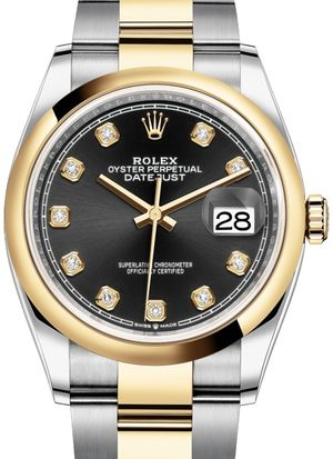 Rolex Datejust 36 126203 Black set with diamonds