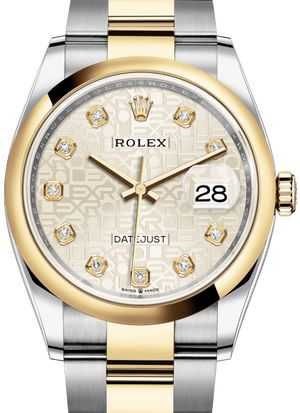 126203 Silver Jubilee design set with diamonds Rolex Datejust 36