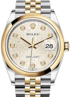 Rolex Datejust 36 126203 Silver Jubilee design diamonds Jubilee